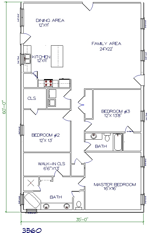 Tri county builders pictures and plans tri county builders for 30x40 barndominium floor plans